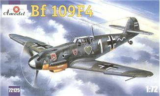 A Model From Russia 1/72 Messerschmitt Bf109F4 WWII German Fighter Kit