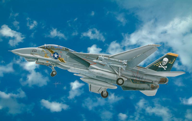 Italeri 1/48 F14A Tomcat US Navy Fighter Kit