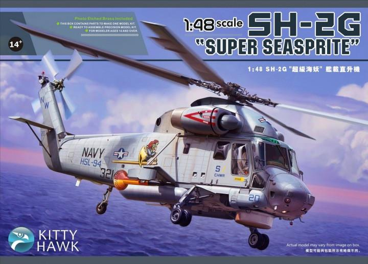 Kitty Hawk 1/48 SH2G Super Seasprite USN Helicopter Kit