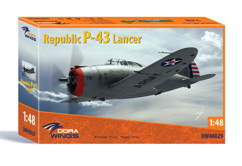 Dora Wings 1/48 Republic P43 Lancer Aircraft (New Tool) Kit
