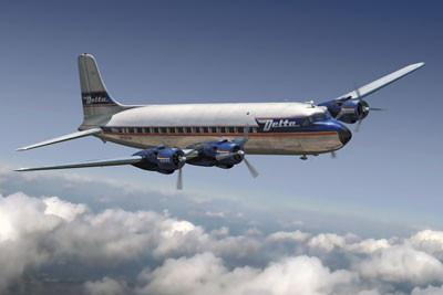 Roden Aircraft 1/144 DC6 Delta Airlines Kit