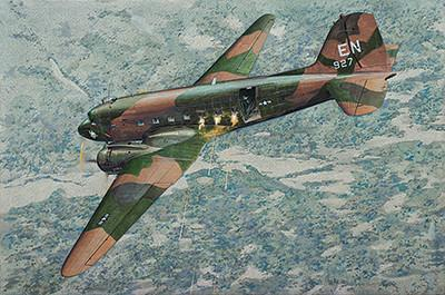 Roden Aircraft 1/144 AC47D Spooky US Ground Attack Aircraft Kit