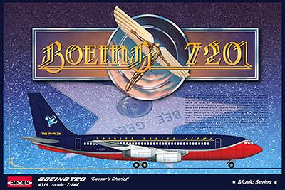 Roden Aircraft 1/144 B720 Caesar's Chariot Bee Gees 1979 USA Tour Airliner Kit