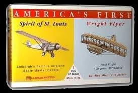 Glencoe Aircraft America's 1st 1/110 Spirit of St. Louis & 1/105 Wright Brother's Flyer Kit