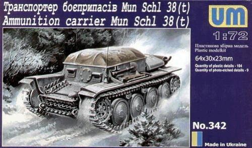 Unimodel Military 1/72 38(t) WWII Ammunition Carrier Kit