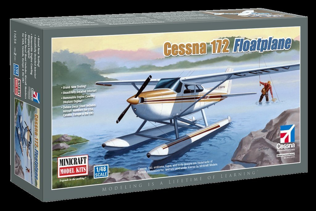 Minicraft Models Clearance Sale 1/48 Cessna 172 Floatplane Kit