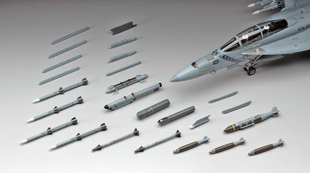 Hasegawa Aircraft 1/48 Weapons E - US Air to Air Missiles & Target Pods Kit