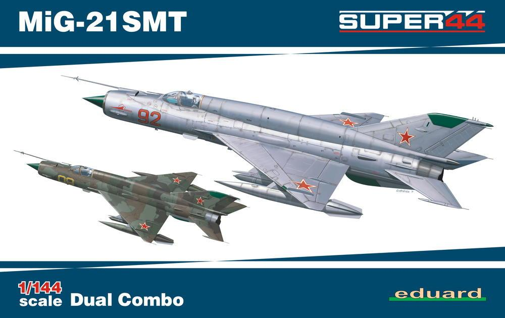 Eduard 1/144 MiG21SMT Fighter Dual Combo Ltd. Edition Kit