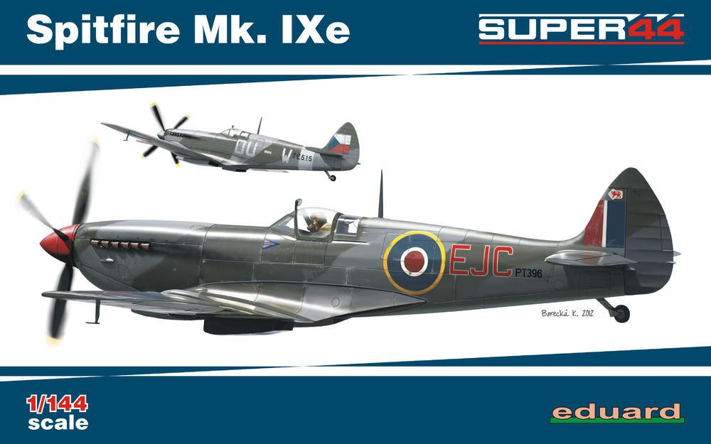 Eduard 1/144 Spitfire Mk IXe Fighter Dual Combo Ltd. Edition Kit