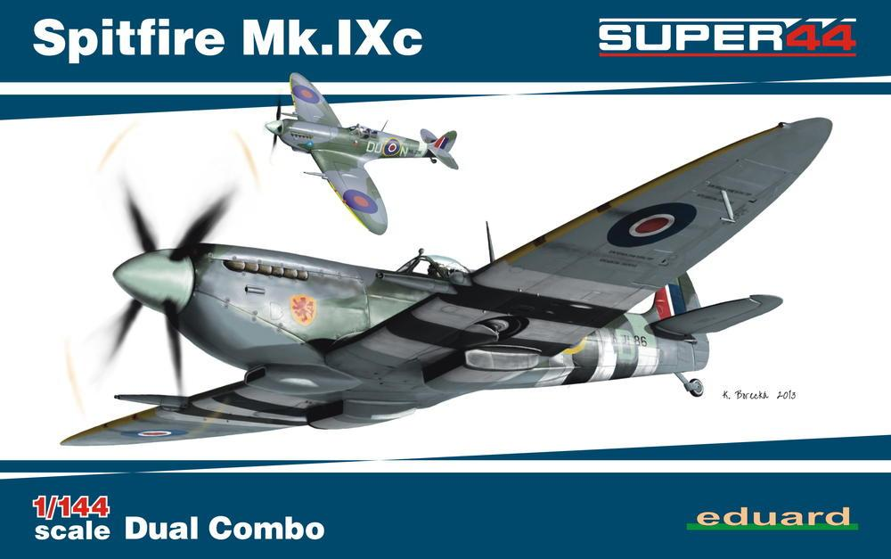 Eduard 1/144 Spitfire Mk IXc Fighter Dual Combo Ltd. Edition Kit