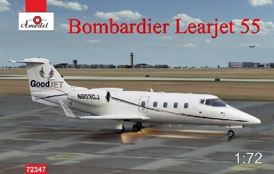 A Model From Russia 1/72 Bombardier Learjet 55 Business Jet Kit
