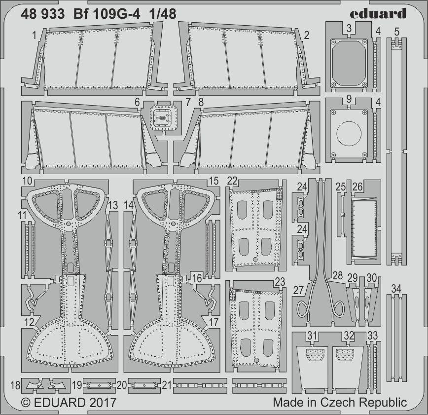 Eduard Details 1/48 Aircraft - Bf109G4 for EDU