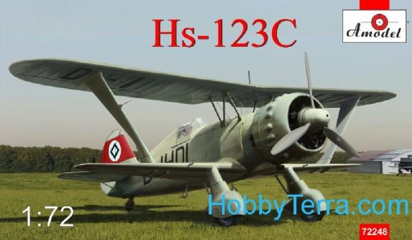 A Model From Russia 1/72 Henschel Hs123C Dive Bomber Kit