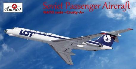 A Model From Russia 1/72 Tu134 NATO Code Crusty-A Soviet LOT Passenger Airliner Kit