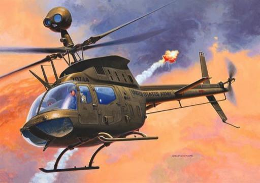 Revell Germany Aircraft 1/72 Bell OH58D Kiowa Helicopter Kit