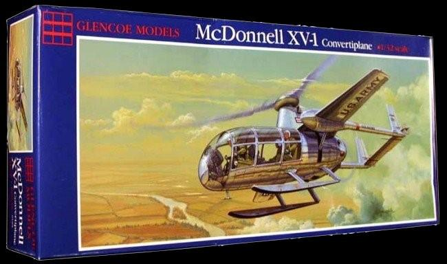 Glencoe Aircraft 1/32 McDonnell XV1 Convertiplane Re-Issue) Kit
