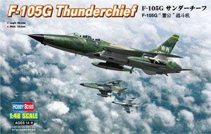 Hobby Boss Aircraft 1/48 F-105G Thunderchief Kit