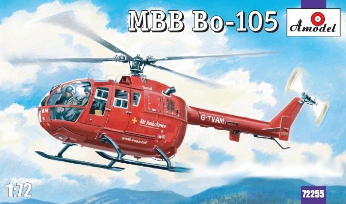 A Model From Russia 1/72 MBB Bo105 Rescue Helicopter Kit