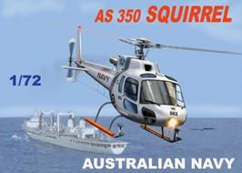 Mach-2 Aircraft 1/72 AS350 Squirrel Australian Navy/Army Helicopter Kit