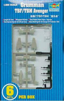 Trumpeter Aircraft 1/350 TBF/TBM Avenger Aircraft Set for USS Essex (6/Bx) Kit