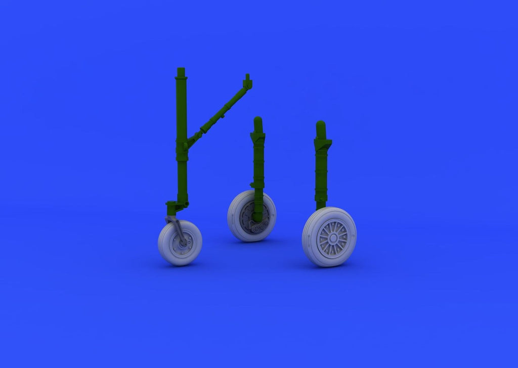 Eduard Details 1/48 Aircraft- A4E Wheels Early for EDU & HSG (Resin)