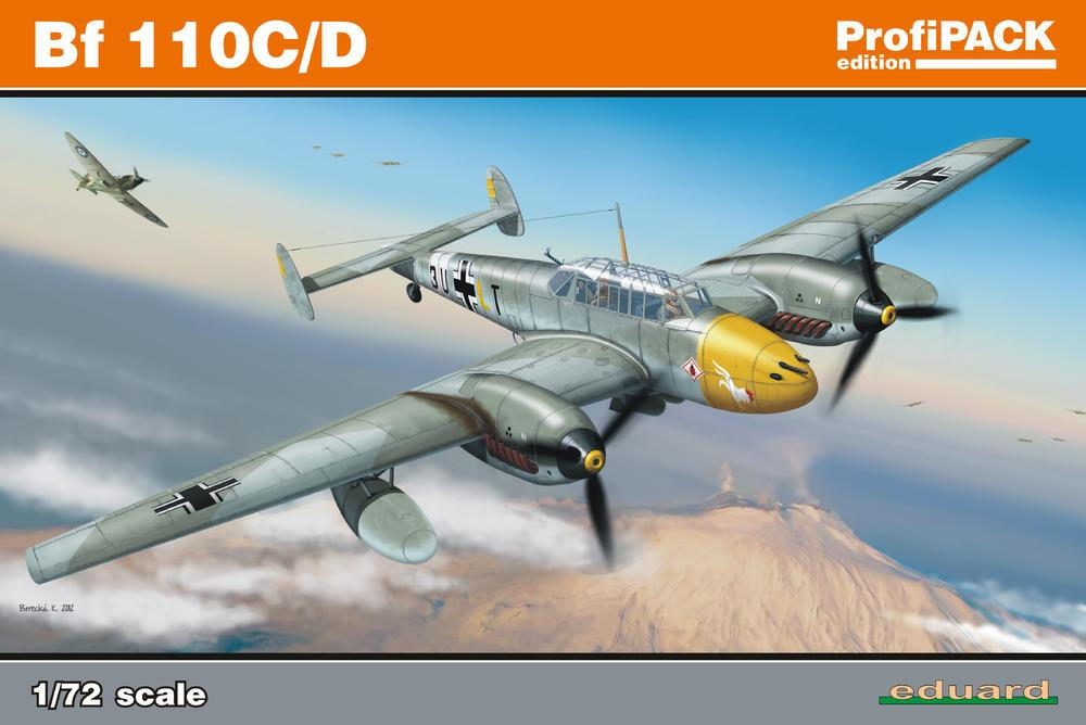 Eduard Aircraft 1/72 Bf110C/D Fighter Profi-Pack Kit