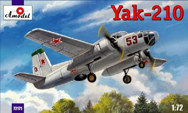 A Model From Russia 1/72 Yak210 Soviet Trainer Aircraft Kit