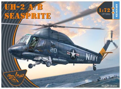 Clear Prop 1/72 UH2A/B Seasprite USN Helicopter (Advanced) Kit