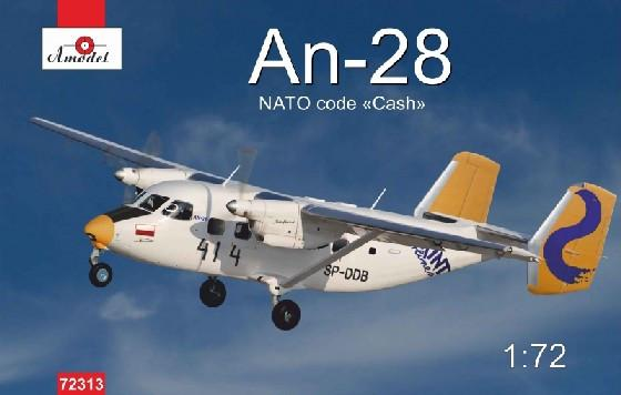 A Model From Russia 1/72 Antonov An28 NATO Code Twin Engine Light Turboprop Transport and Passenger Aircraft Kit