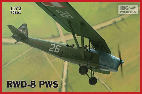 IBG Aircraft 1/72 RWD8 PWS Polish Military Trainer Aircraft Kit