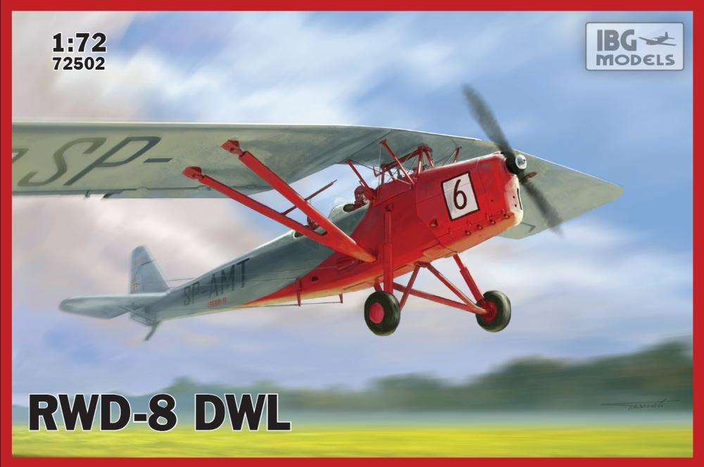 IBG Aircraft 1/72 RWD8 DWL Polish Civilian Trainer Aircraft Kit