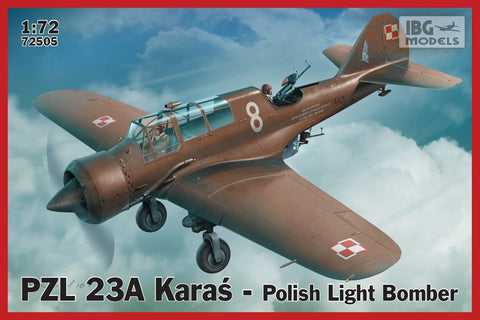 IBG Aircraft 1/72 PZL23A Karas Polish Light Bomber (New Tool) Kit