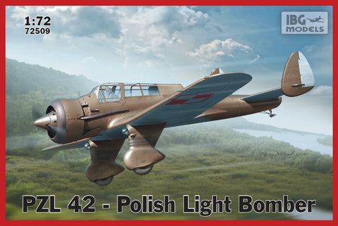 IBG Aircraft 1/72 PZL42 Polish Light Bomber (New Tool) Kit