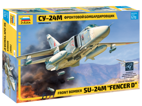 Zvezda Aircraft 1/72 Su24M Aircraft (Re-Release) Kit