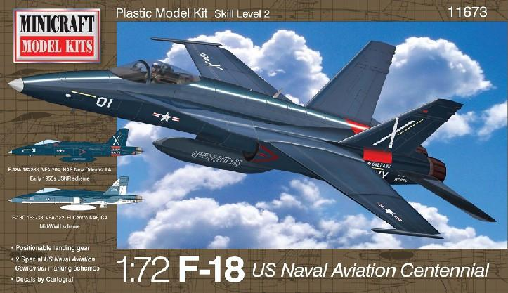 Minicraft  1/72 F18 US Naval Centennial Aircraft Kit