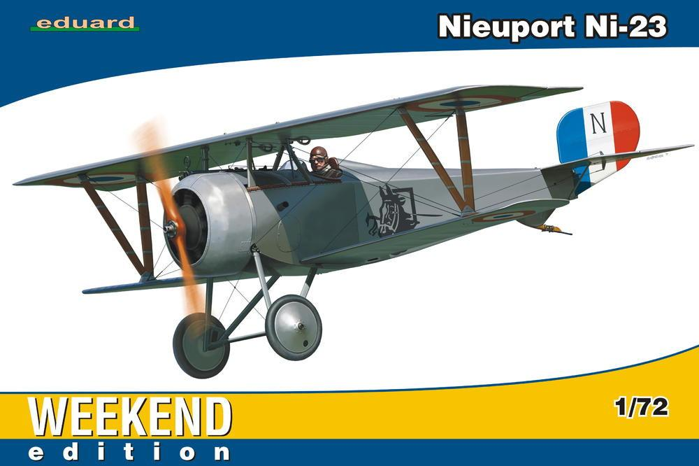Eduard Aircraft 1/72 Nieuport Ni23 BiPlane Fighter Wkd Edition Kit