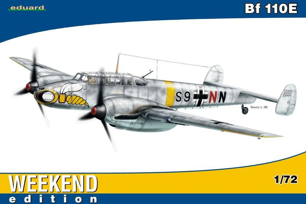 Eduard Aircraft 1/72 Bf110E Fighter Wkd Edition Kit