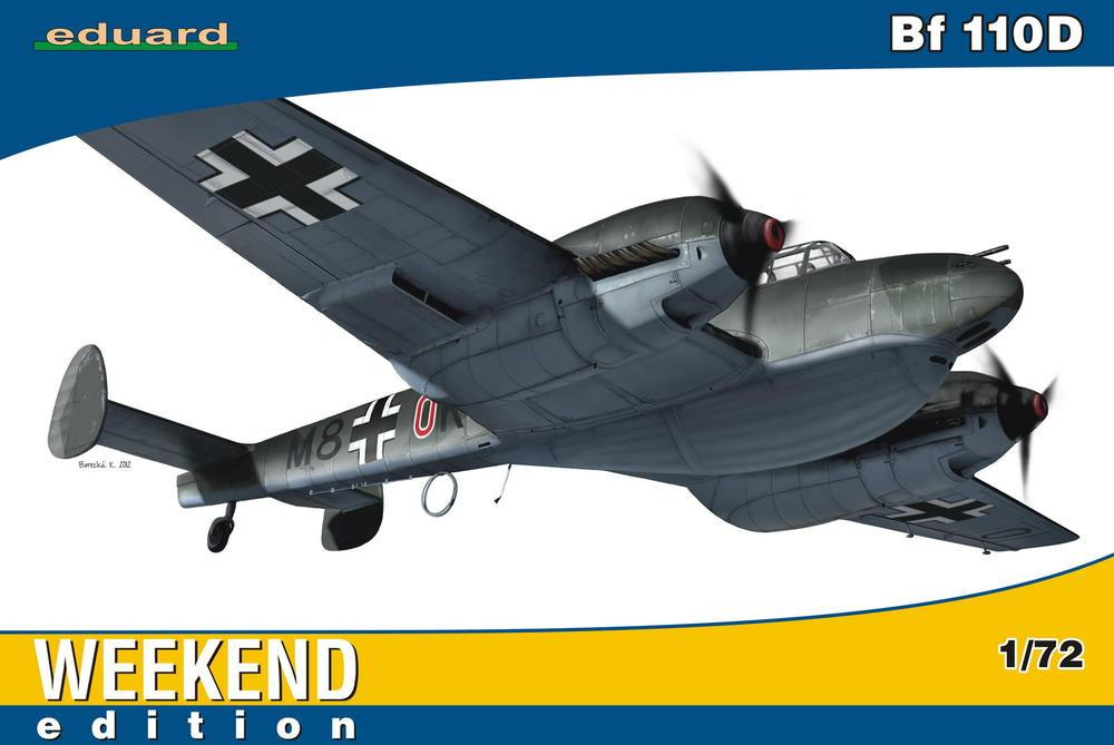 Eduard Aircraft 1/72 Bf110D Fighter Wkd Edition Kit