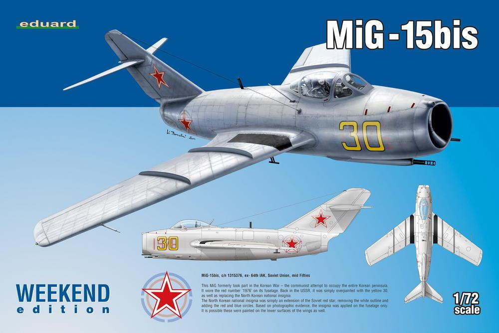 Eduard Aircraft 1/72 MiG15bis Fighter Wkd. Edition Kit