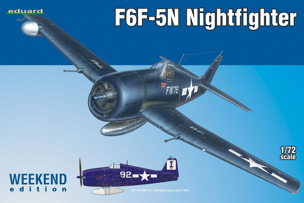 Eduard Aircraft 1/72 F6F5N Night Fighter Wkd Edition Kit