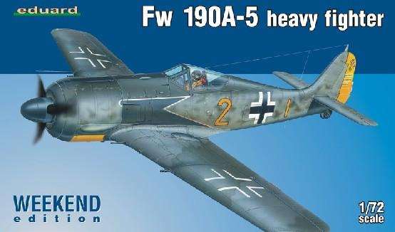 Eduard Aircraft 1/72 Fw190A5 Heavy Fighter Wkd Edition Kit