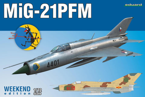 Eduard 1/72 MiG21PMF Soviet Cold War Jet Fighter Wkd Edition Kit