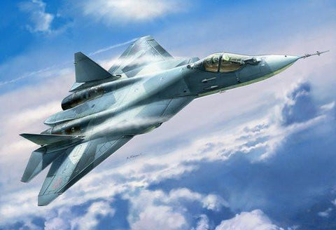 Zvezda Aircraft 1/72 Russian Su50 (T50) 5th Generation Fighter Kit
