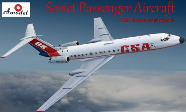 A Model From Russia 1/72 Tu134A NATO Code Crusty-A Soviet CSA Passenger Airliner Kit