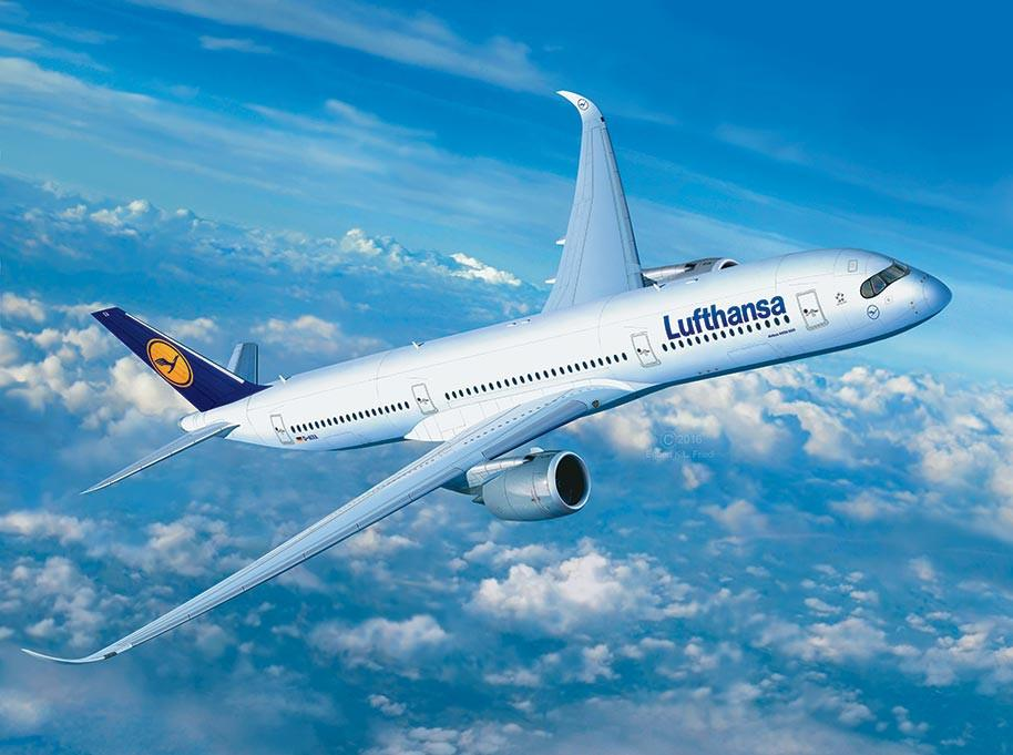 Revell Germany 1/144 Airbus A350-900 Lufthansa Airliner Kit