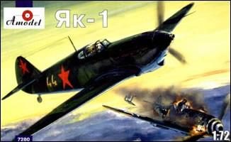 A Model From Russia 1/72 Yak1 Late Version Soviet Fighter Kit
