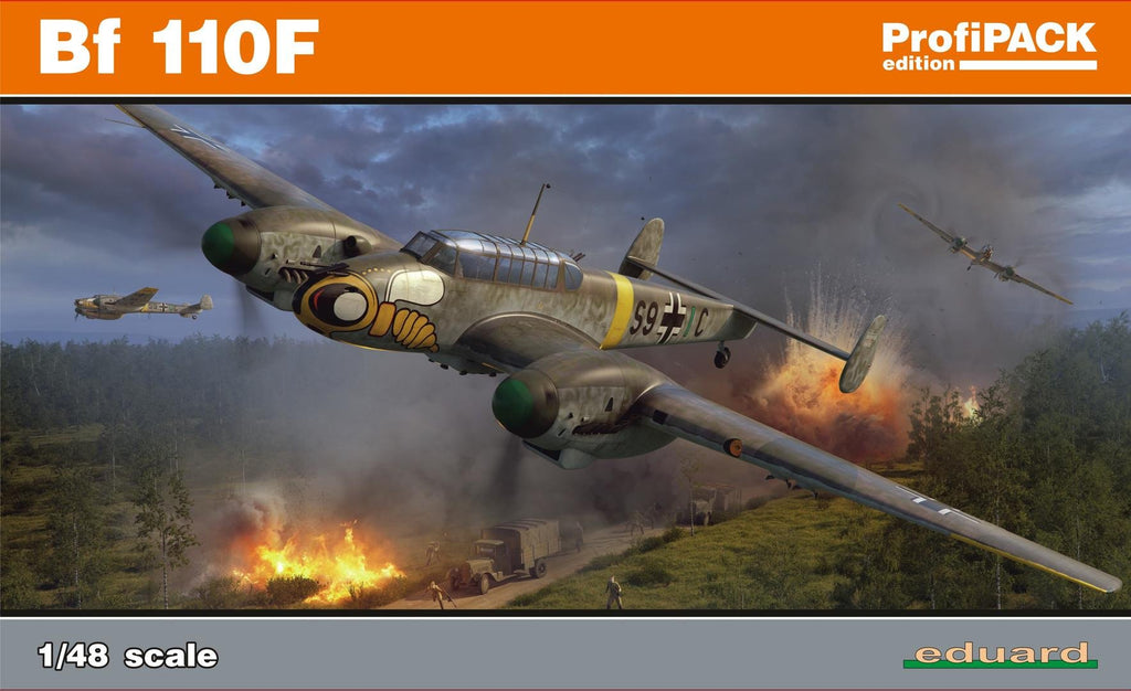 Eduard 1/48 Bf110F Fighter Profi-Pack Kit