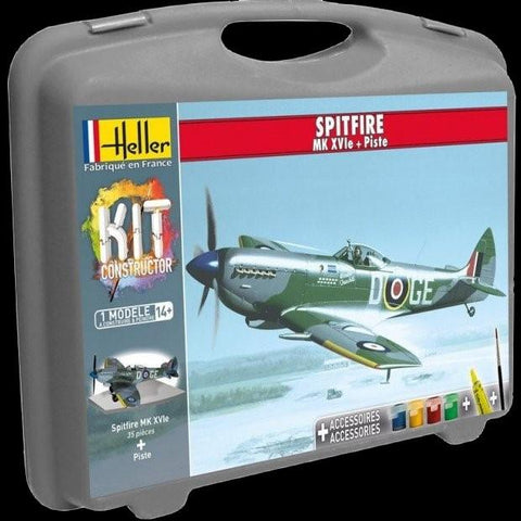 Heller Aircraft 1/72 Spitfire Mk XVIe Aircraft w/Paint & Glue Kit