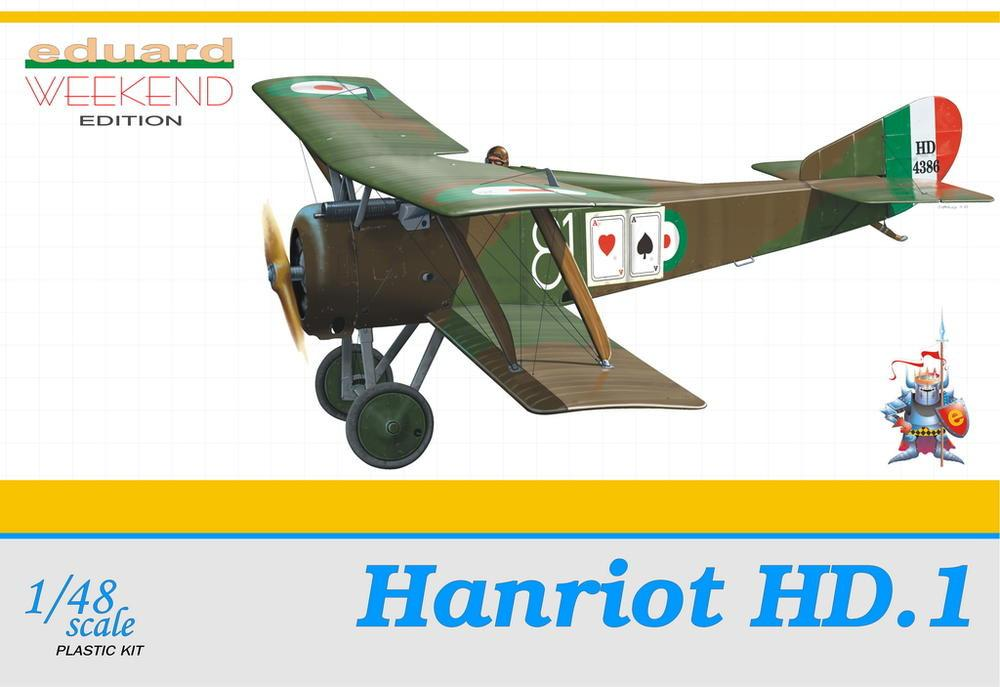 Eduard 1/48 Hanriot HD1 BiPlane Wkd. Edition Kit