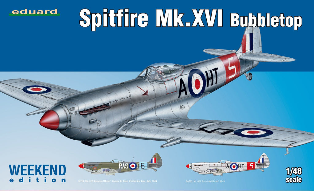 Eduard Aircraft 1/48 Spitfire Mk XVI Bubbletop Fighter Wkd Edition Kit